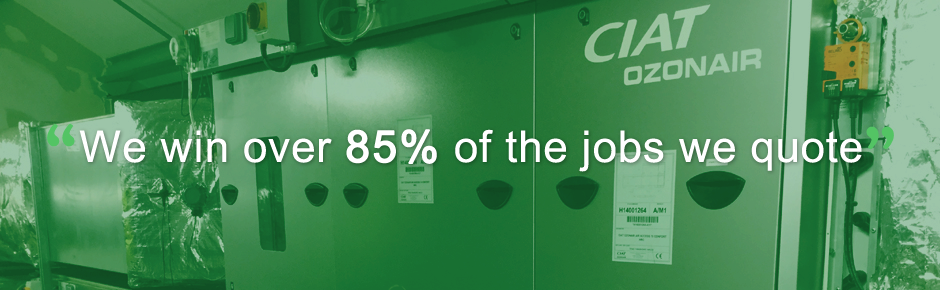 We win over 85% of the jobs we quote.